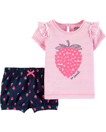225b7f63d Child of Mine made by Carter s Toddler Girls 2pc set - strawberry ...