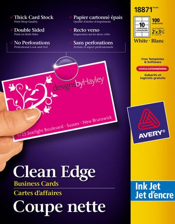 "averya two side printable clean edgea""¢ business cards for inkjet"