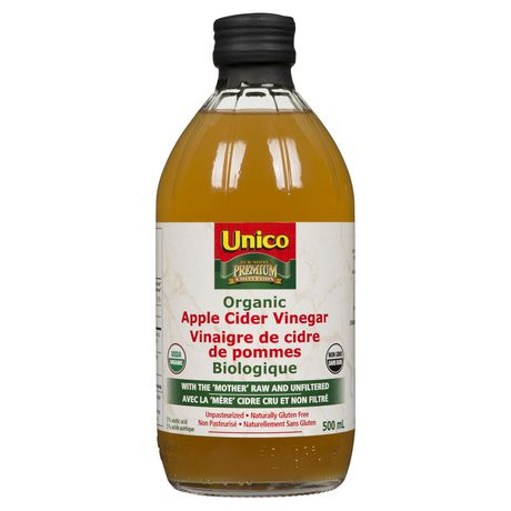 Unico Organic Apple Cider Vinegar With The Mother 500ml Walmart