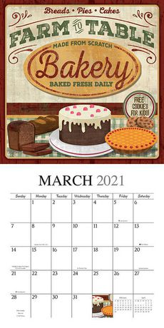 Farmer's Market 2021 12 x 12 Inch Monthly Square Wall ...