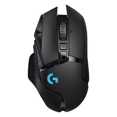 Black wireless optical gaming mouse from Logitech