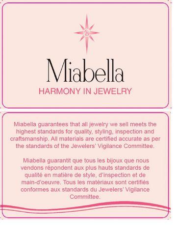 Bague de fiançailles Miabella avec 0.25 Carat de saphir blanc synthétique et 0.10 Carat d'accents de diamant en argent sterling - image 5 de 5