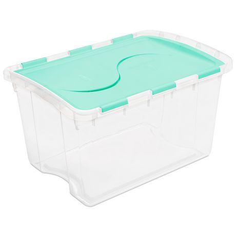 Merveilleux Sterilite Hinged Lid Green Storage Box