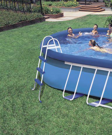 intex 18ft x 10ft x 42in oval frame pool set. Black Bedroom Furniture Sets. Home Design Ideas
