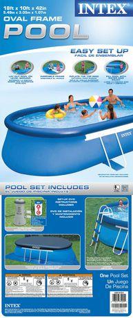 Intex Development Co Ltd Intex 18ft X 10ft X 42in Oval