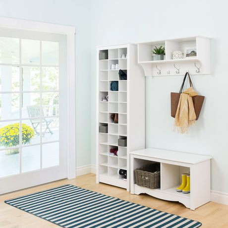 prepac space saving white shoe storage cabinet walmart. Black Bedroom Furniture Sets. Home Design Ideas