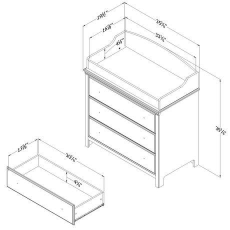 Table langer tiroirs de la collection cotton candy de - Table a langer compacte ...