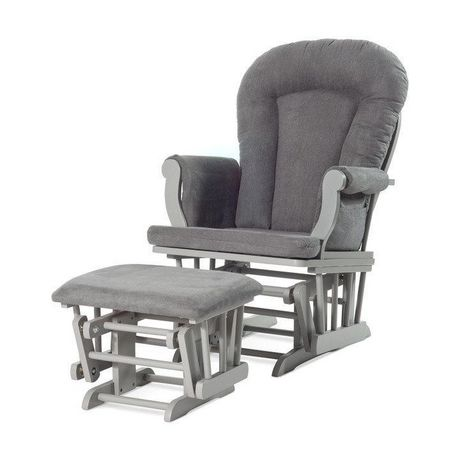 Incroyable Forever Eclectic™ By Child Craft™ Cozy Glider And Ottoman, Cool Gray With  Dark ...
