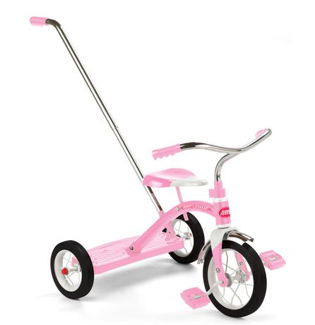 """Radio Flyer Girls Classic Pink 10"""" Tricycle w/ Push Handle™ - image 1 of 7"""