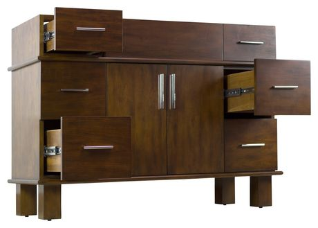 American Imaginations 46.5-in. W Vanity Base Antique Cherry - image 5 of 7
