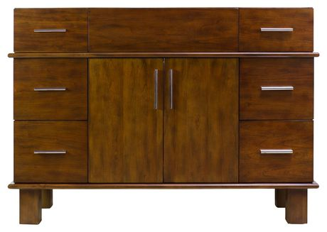 American Imaginations 46.5-in. W Vanity Base Antique Cherry - image 7 of 7