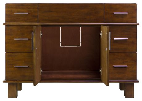 American Imaginations 46.5-in. W Vanity Base Antique Cherry - image 6 of 7