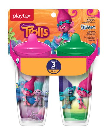 Playtex Baby Sipsters Spill-Proof Trolls Toddler Spout Cup, Stage 3 (12+ Months), Pack of 2 - image 1 of 1