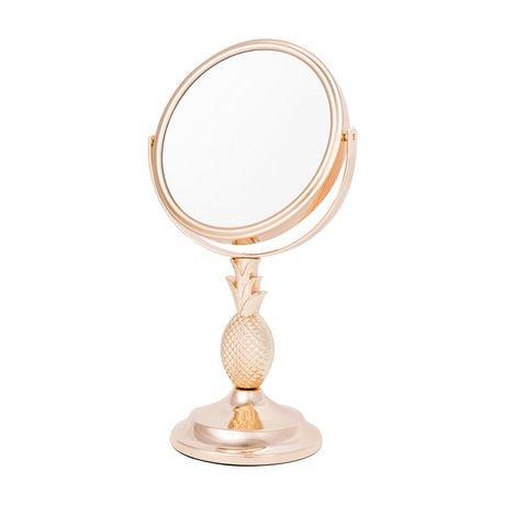 Miroir de coiffeuse dor danielle motif d 39 ananas en for Miroir danielle