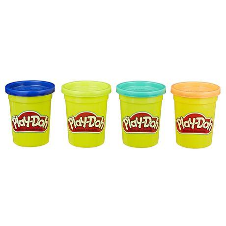 Ens. 4 pots de pâte à modeler Play-Doh de 448 grammes en canne (couleurs vives) - image 2 de 2
