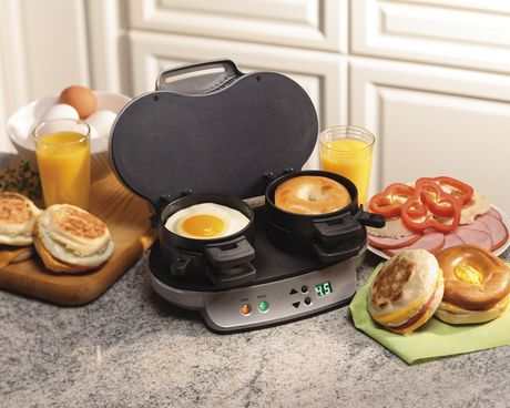Hamilton Beach Dual Breakfast Sandwich Maker 25490C - image 3 of 5
