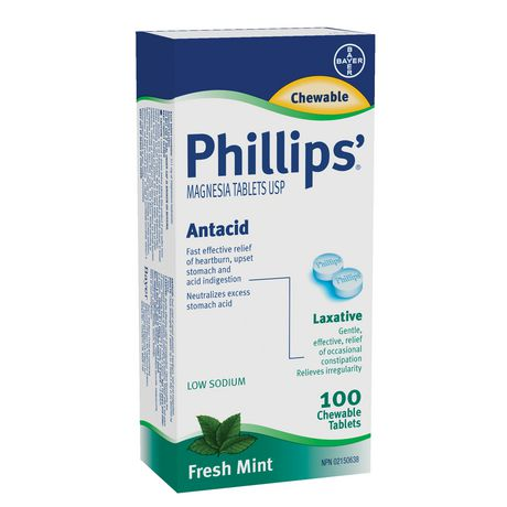 Bayer Healthcare Consumer Care Phillips'® Milk of Magnesia - 100 Chewable Tablets - image 1 of 2