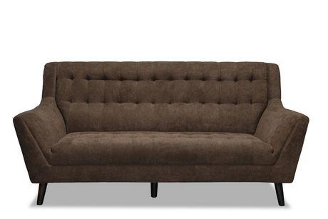 Topline Home Furnishings Brown High Back Sofa - image 1 of 2