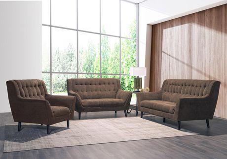 Topline Home Furnishings Brown High Back Sofa - image 2 of 2