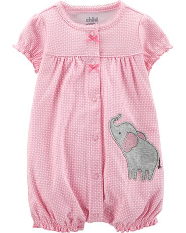 651de5ef5372 Child of Mine made by Carter s Newborn Girls  1 piece romper - elephant -  image ...