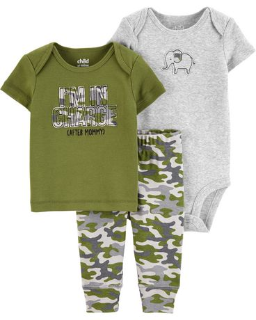 2fe2fae19 Child of Mine made by Carter's Newborn boys' 3-piece Set - camouflage ...