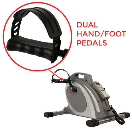 Sunny Health & Fitness Motorized Mini Exercise Bike with 90 Rpms - Electric Surface Cycle 90 - image 4 of 7