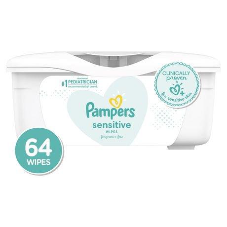 Lingettes pour bébés Sensitive de Pampers, boîte | Walmart Canada