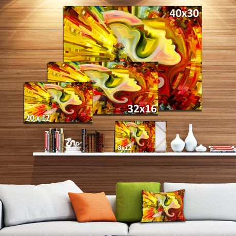 OFFRAY Design Art beyond Inner Paint Canvas Print - image 3 of 3