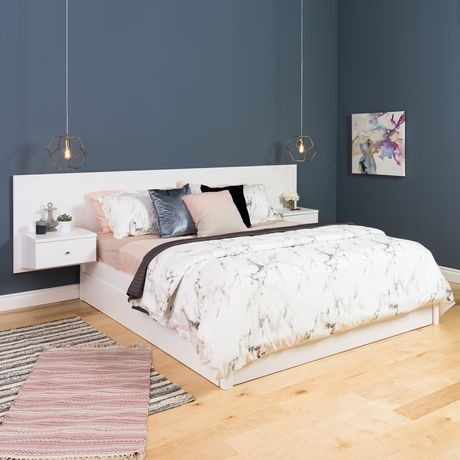 dossier de lit flottant prepac pour tr s grand lit avec. Black Bedroom Furniture Sets. Home Design Ideas