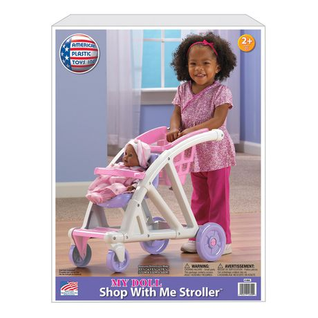 American Plastic Toys Shop with Me Stroller - image 2 of 3