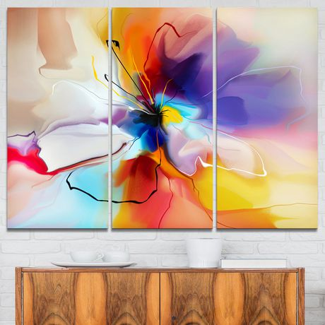 design art creative flower in multiple colours abstract floral