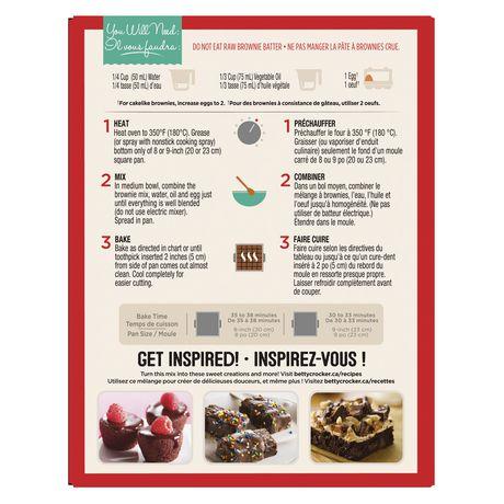 Mélange de brownie avec corceaux de chocolat de Betty CrockerMC - image 4 de 11