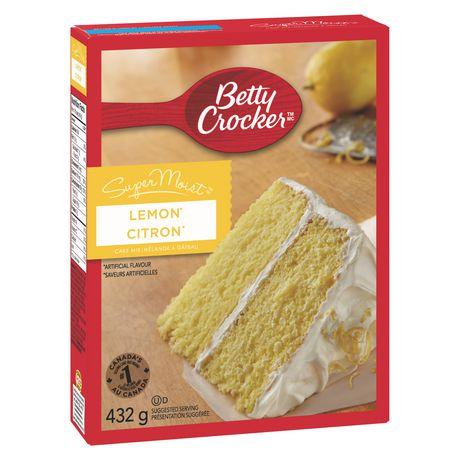 betty crocker supermoist lemon cake mix walmart canada