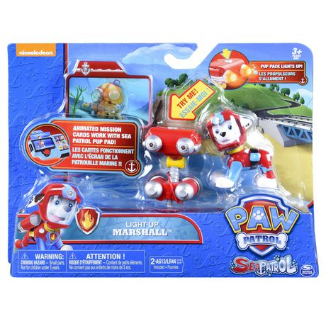 PAW Patrol Sea Patrol – Light up Marshall with Pup Pack And Mission Card - image 2 of 4