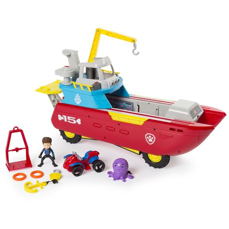 PAW Patrol Sea Patrol – Sea Patroller Transforming Vehicle with Lights And Sounds - image 1 of 9