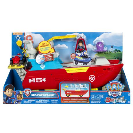 PAW Patrol Sea Patrol – Sea Patroller Transforming Vehicle with Lights And Sounds - image 2 of 9