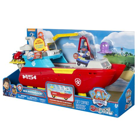 PAW Patrol Sea Patrol – Sea Patroller Transforming Vehicle with Lights And Sounds - image 9 of 9