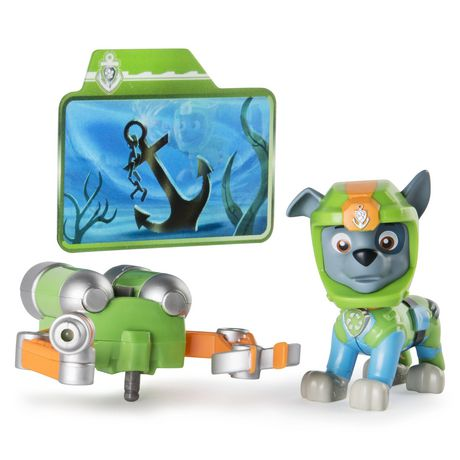 paw patrol sea patrol light up rocky with pup pack and mission