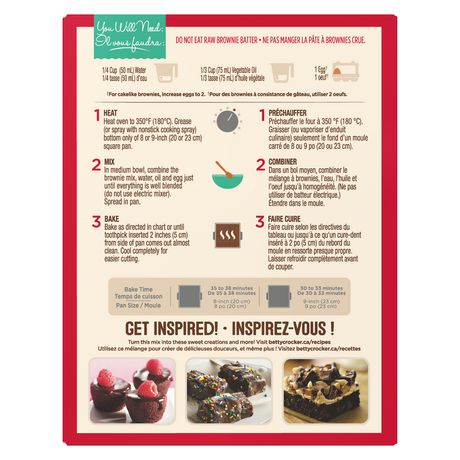 Mélange de brownie avec corceaux de chocolat de Betty CrockerMC - image 3 de 11