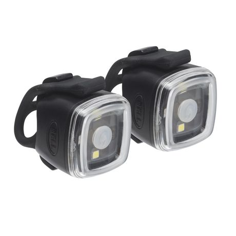 Pair of black bicycle toggle sports lights, made by Bell