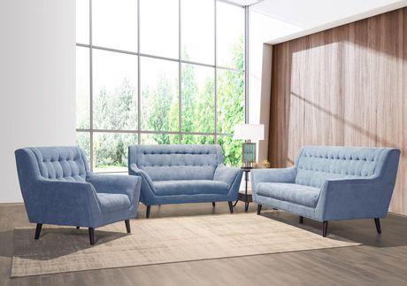 Topline Home Furnishings 3pc Blue Sofa Set Walmart Canada