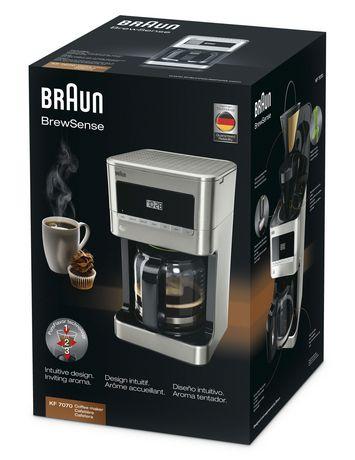 Braun BrewSense Drip Coffee Maker - 12 Cup - KF7070 ...