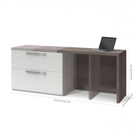 bureau d ordinateur small space de bestar avec classeur lat ral coulissant walmart canada. Black Bedroom Furniture Sets. Home Design Ideas