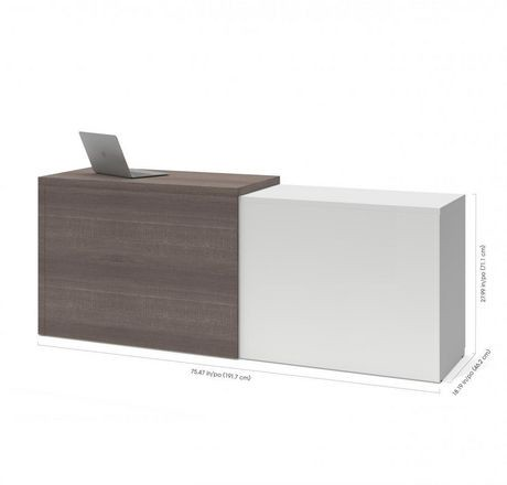 bureau d ordinateur small space de bestar avec classeur lat ral coulissant walmart canada. Black Bedroom Furniture Sets. Home Design Ideas