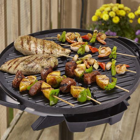 George Foreman Indoor and Outdoor Electric Grill with Stand and Thermostat, Grey - image 3 of 8