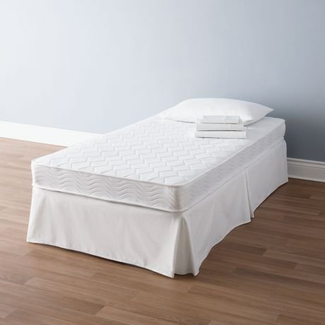 Mainstays 6 inch White Innerspring Twin Coil Mattress | Walmart Canada