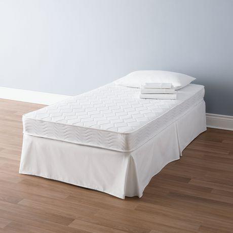 Mainstays 6 Inch White Innerspring Twin Coil Mattress Walmart Canada