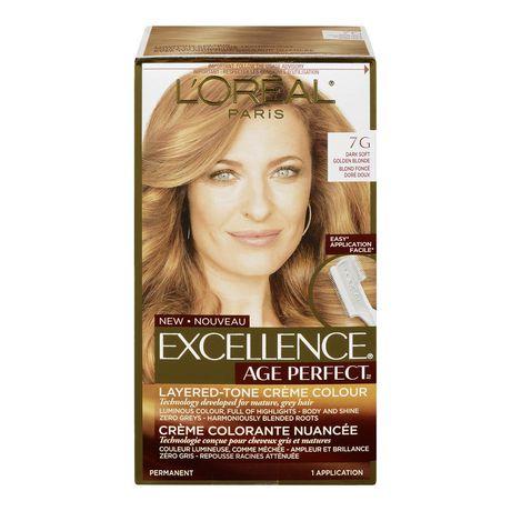 loral paris excellence age perfect coloration blond fonc dor doux 7g - Coloration Blond Fonc