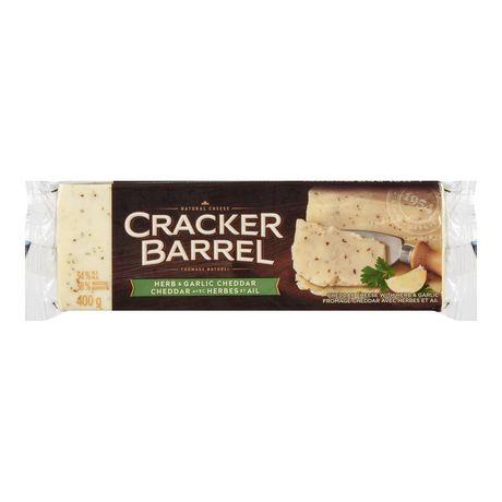 Cracker Barrel Herb And Garlic Cheddar Natural Cheese - image 1 of 3