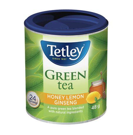 Tetley Honey Lemon Ginseng Green Tea - image 1 of 3